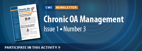 Chronic OA Management Vol 1 Issue 3