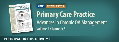 Advances in Chronic OA Management Volume 1 Number 3