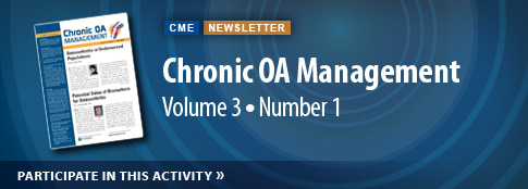 Chronic OA Management Volume 3 Number 1