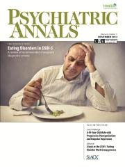 Psychiatric Annals November 2012 Cover