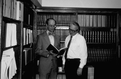 ASSH, the oldest medical specialty society in the United States, has a museum and library in San Francisco, where William L. Newmeyer III, MD, FACS, and Hal Gibson are shown studying part of the historic collection there.