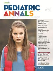 Pediatric Annals April 2013 Cover