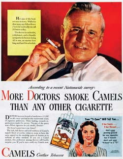 Camel Cigarette Advertisement
