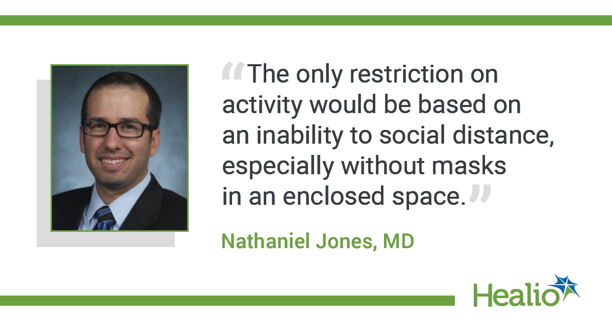 Quote from Jones on activity restrictions in COVID-19