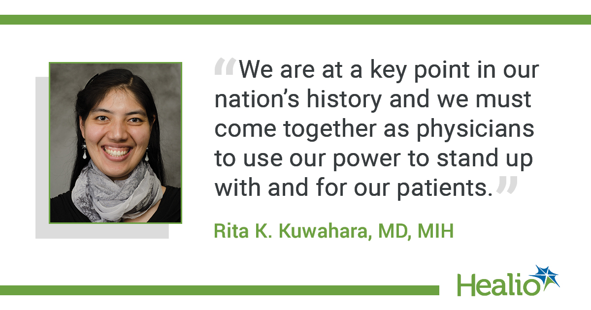 Quote from Kuwahara on physician advocacy