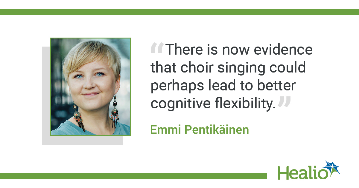 Quote on choir singing and cognitive flexibility