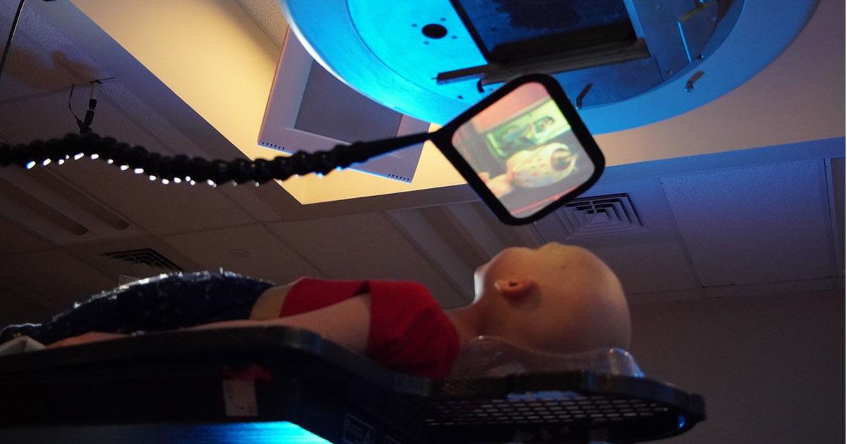 Patient using RadFlix.
