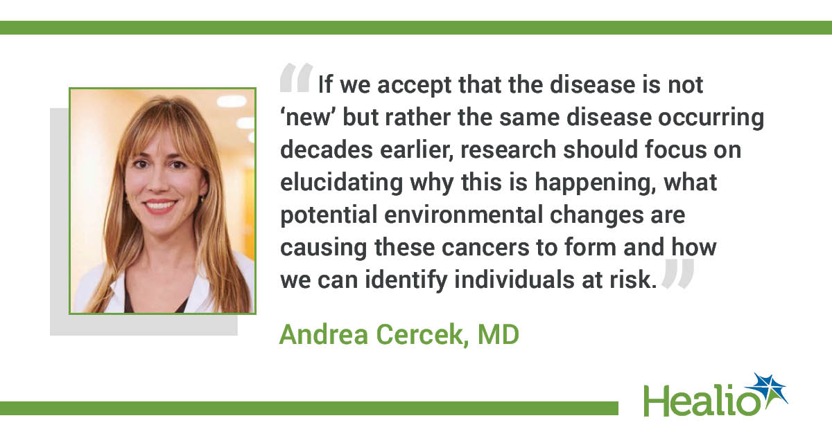 Andrea Cercek, MD, medical oncologist, section head of colorectal cancer and co-director of the Center for Young Onset Colorectal and Gastrointestinal Cancers at Memorial Sloan Kettering Cancer Center