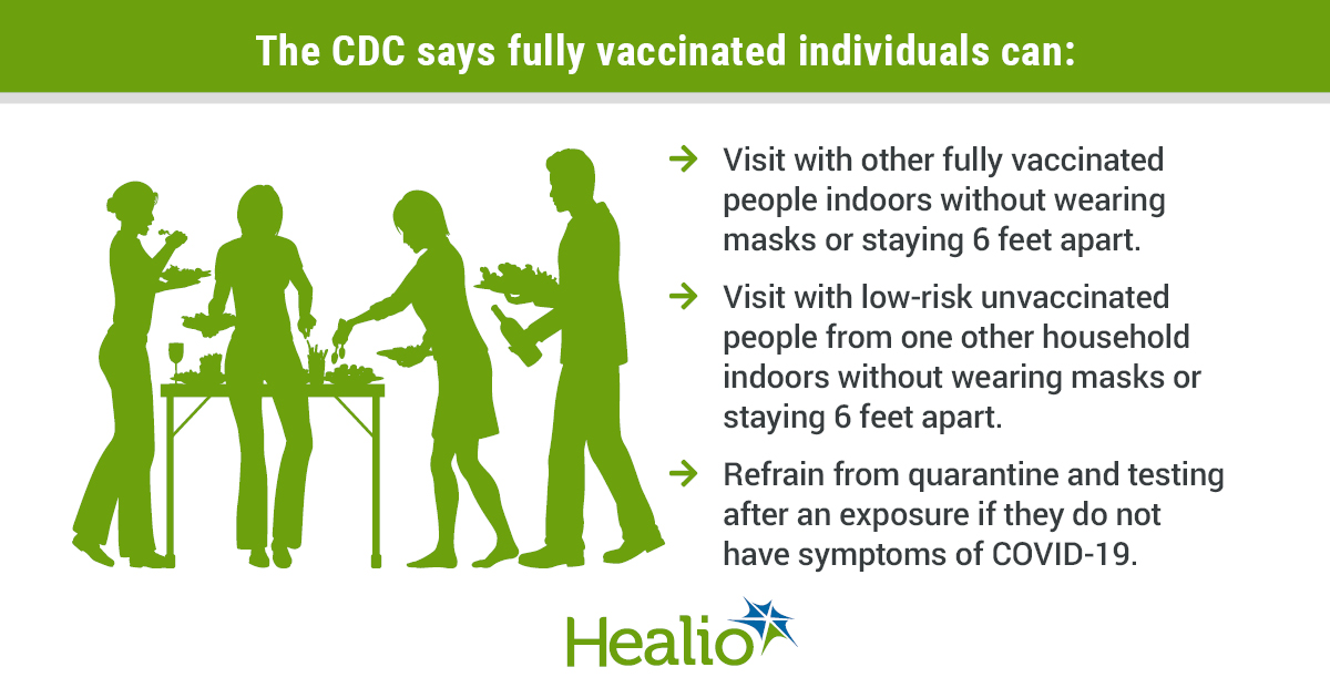 CDC says fully vaccinated people can gather without masks, distancing