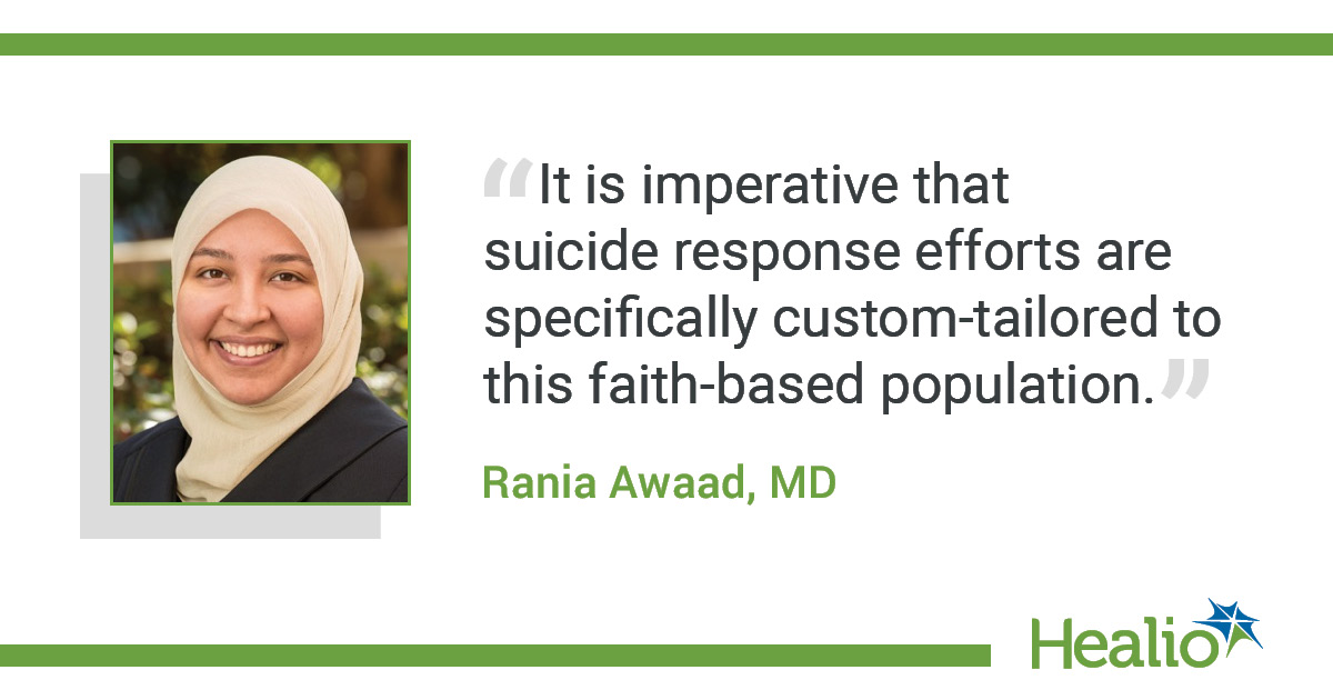 Suicide attempt more common among Muslim adults than people of other faiths