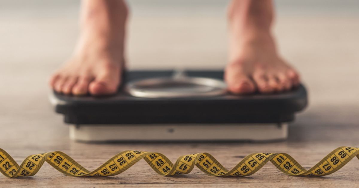 Weight loss scale and tape measure 2019