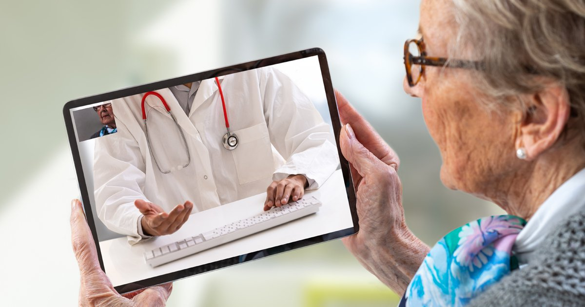 Doctor and Patient Practicing Telemedicine