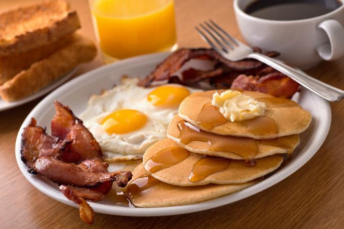 Eggs, Pancakes, Bacon