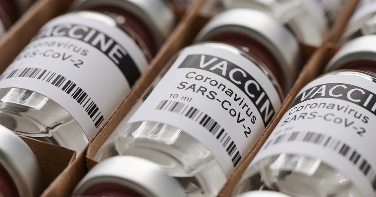 Vials of COVID19 vaccine