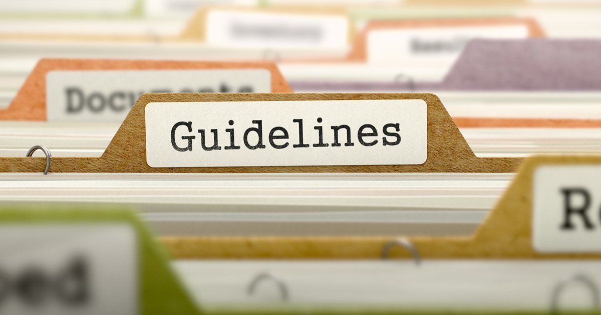 Folder that says guidelines