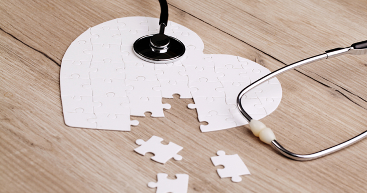 puzzle pieces in shape of heart