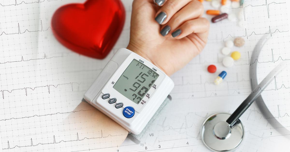 blood pressure being measured