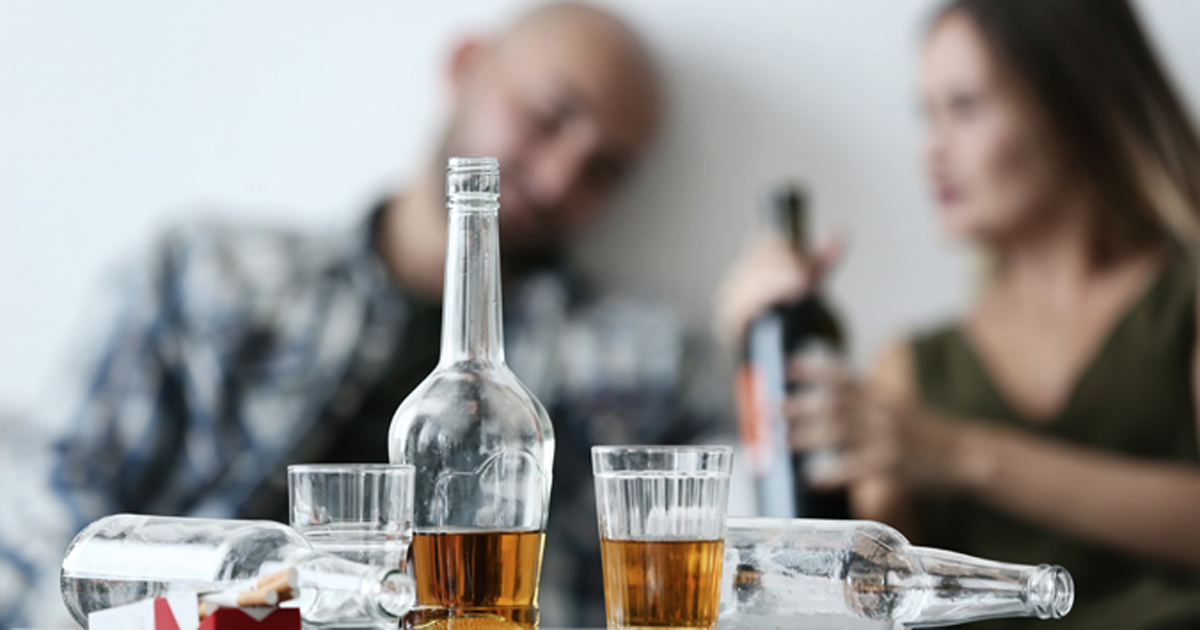 couple drinking alcohol